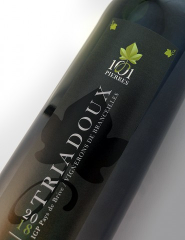 Étiquette du vin Triadoux Rouge Bouteille de 75 cl - 1001 Pierres