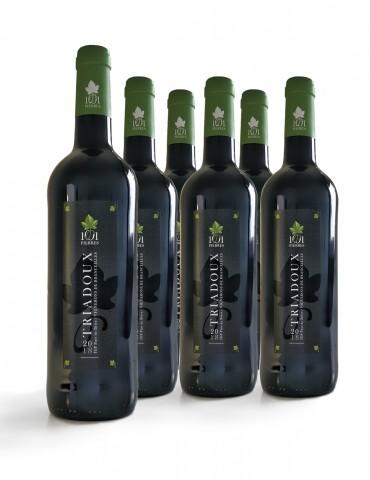 Carton de 6 bouteilles de vin Triadoux Rouge - 6 Bouteilles de 75 cl - 1001 Pierres