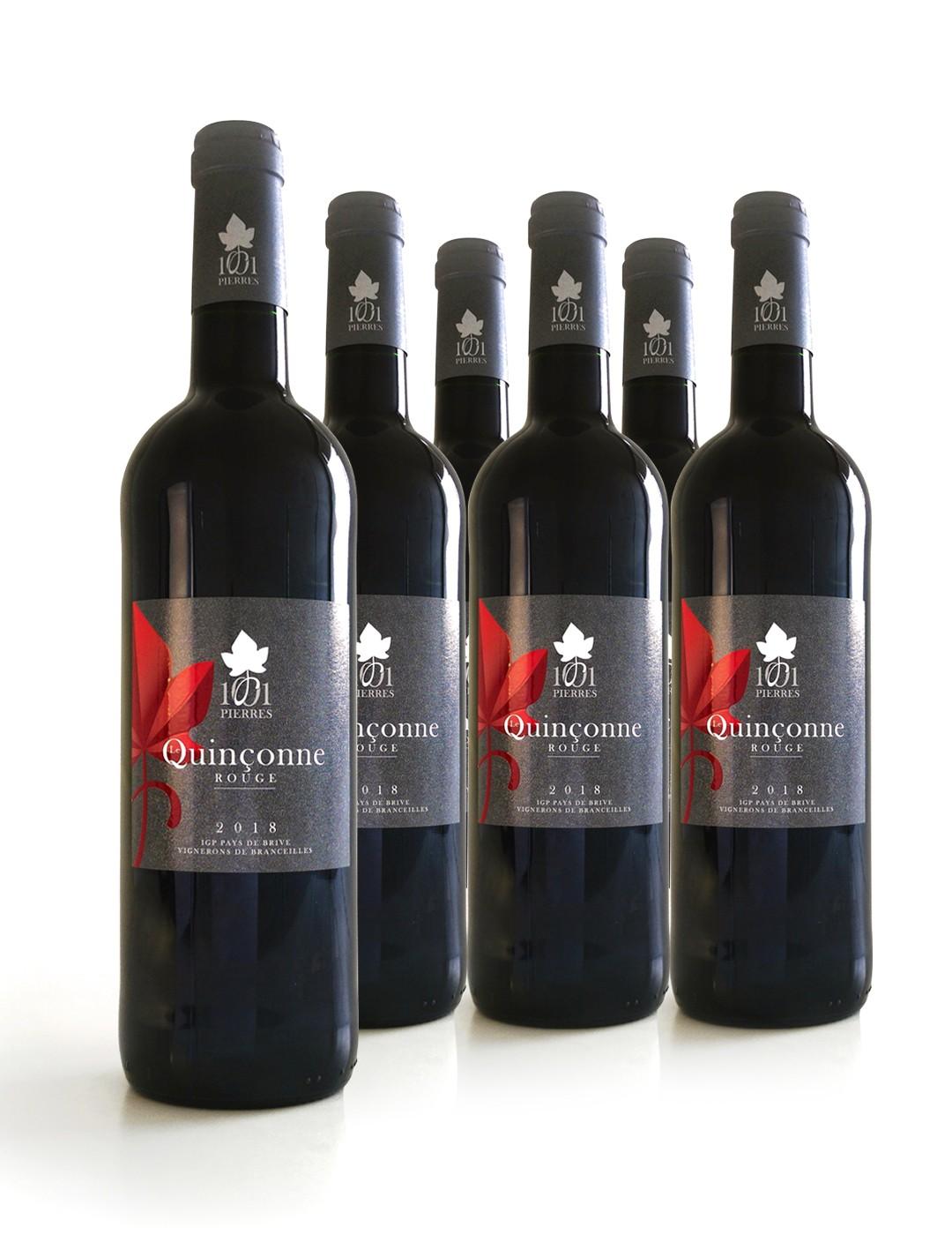 Carton de 6 bouteilles de Quinçonne Rouge - 1001 Pierres - Vin - 75 cl