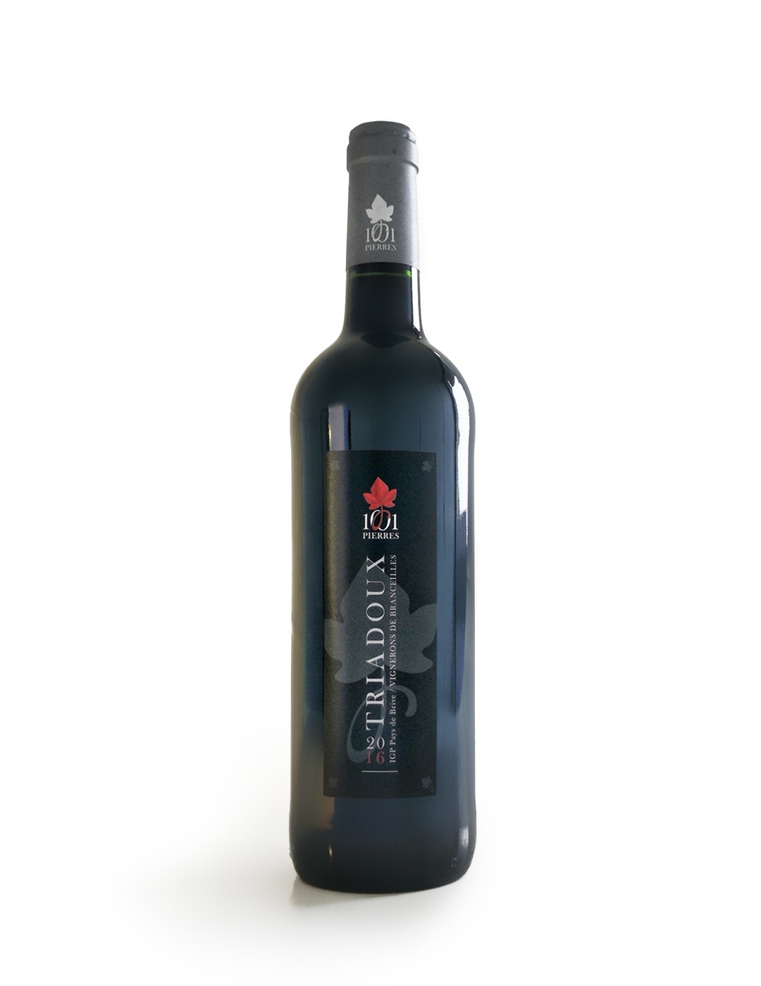 Triadoux : Vin Rouge Conventionnel - Bouteille de 75 cl - 1001 Pierres